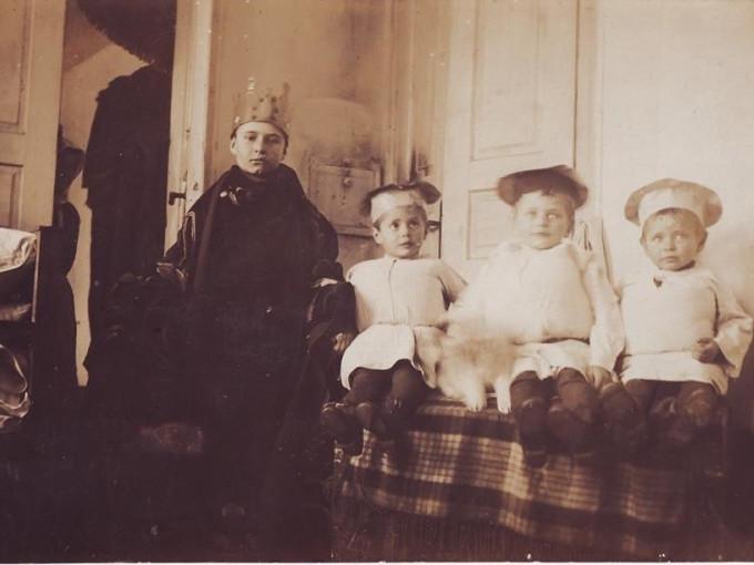 Діти Станіслава Липинського. Новорічне свято у родині.