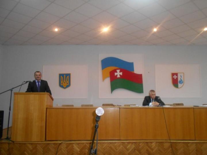 Голова РДА Віктор Дудечко на засіданні райради