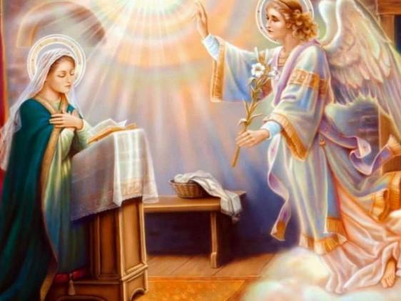 За григоріанським календарем у цей день відзначають Благовіщення Пресвятої Богородиці