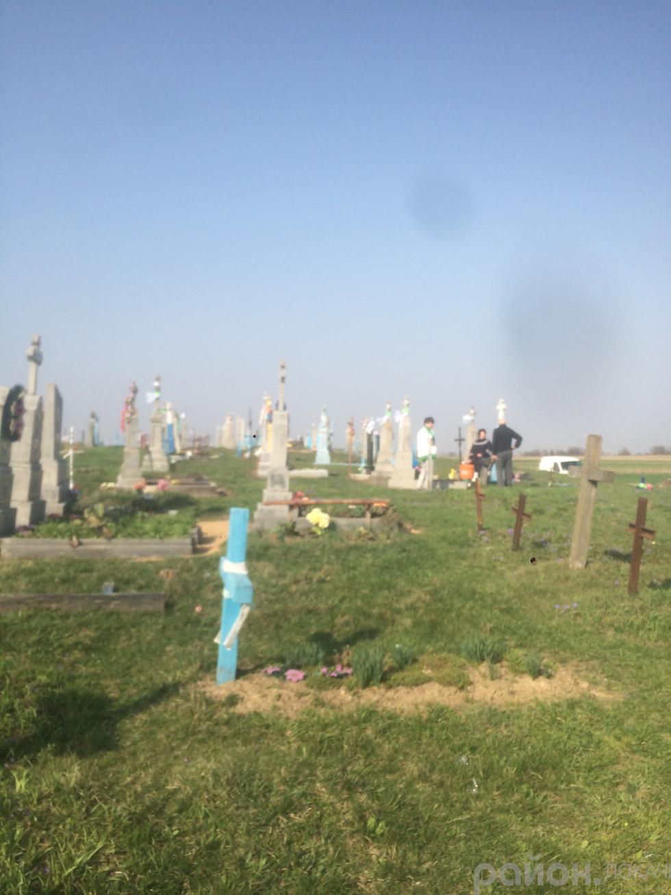 жителі прибираються на кладовищі до Провідної неділі