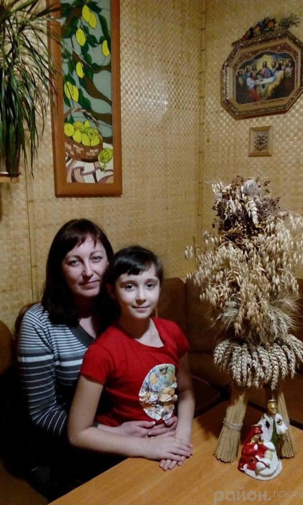 Віта Шевчук з донечкою Меланією