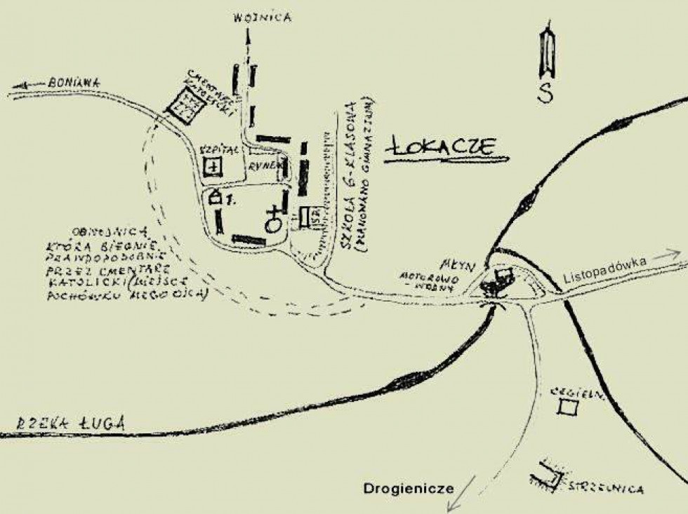 Схематична карта Локач