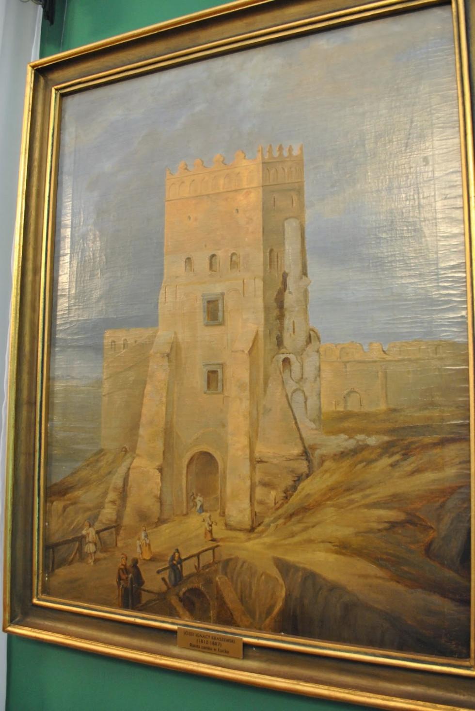 Замок Любарта на картині Крашевського