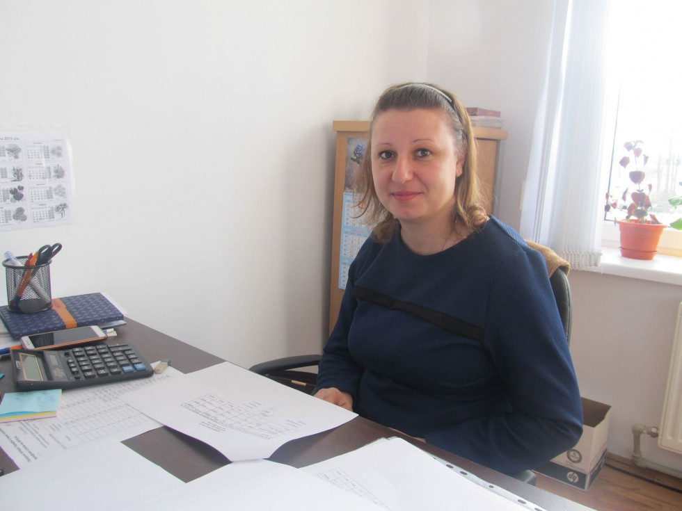 Спеціаліст відділу бухгалтерського обліку і звітності Катерина Пальонка